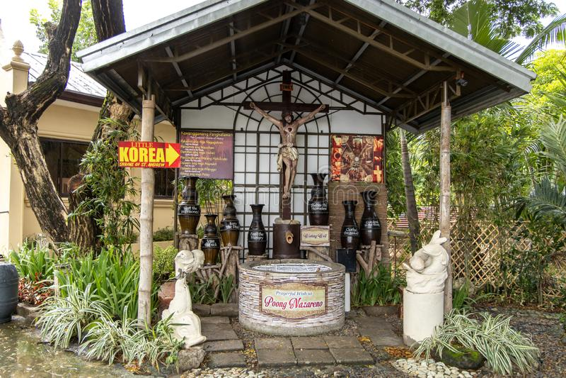 Parafia Sto Cristo i St Andrew Kim Gon Nowy kościół, Bulacan, Filipiny, Jun 29, 2019 fotografia stock