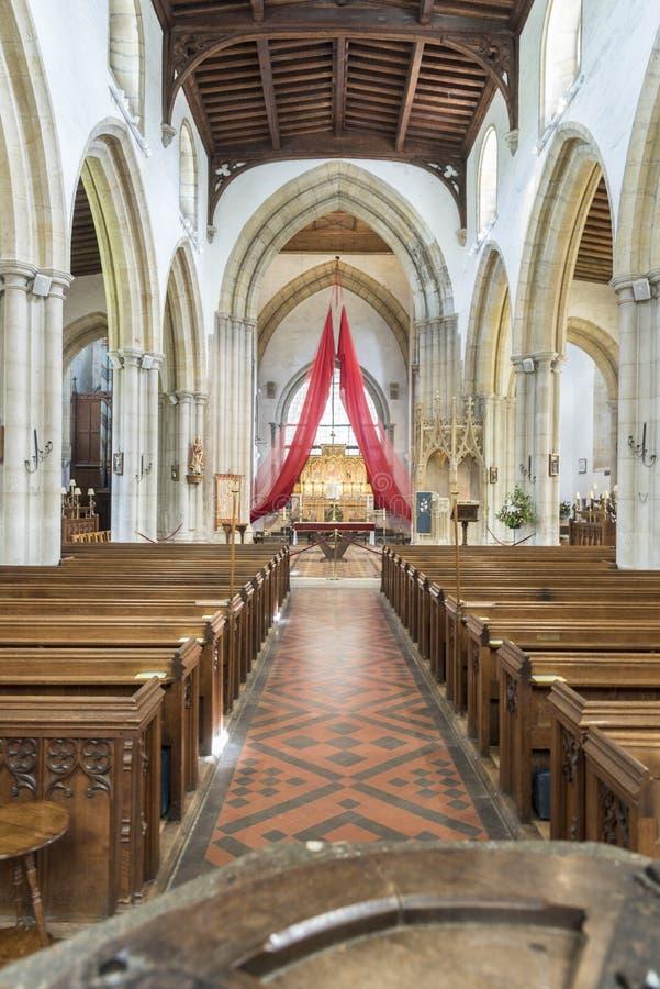 Parafii i Priory kościół święty Nicholas Arundel Zachodni Sussex fotografia royalty free