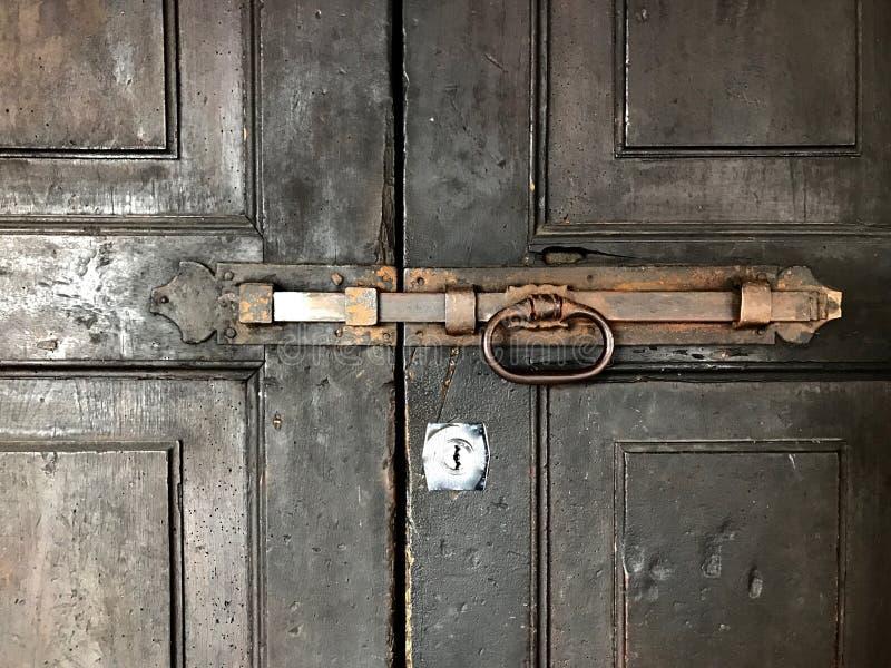 Parafuso de porta imagem de stock