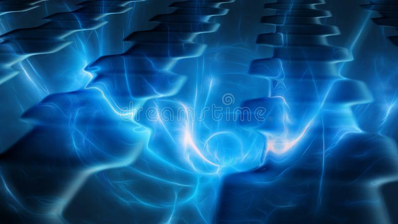 Parafuso de relâmpago de brilho da energia abstrata foto de stock