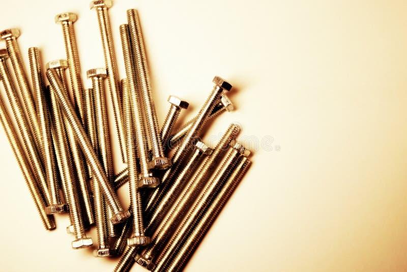 parafuso Produto da asseguração Parafuso principal do hexágono semente Encantar a cabeça linha Metal imagens de stock royalty free