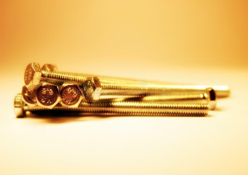 parafuso Produto da asseguração Parafuso principal do hexágono semente Encantar a cabeça linha Metal foto de stock royalty free