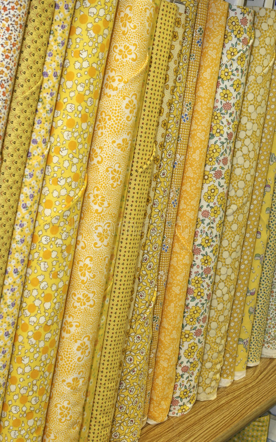 Parafusos da tela amarela do Quilt foto de stock