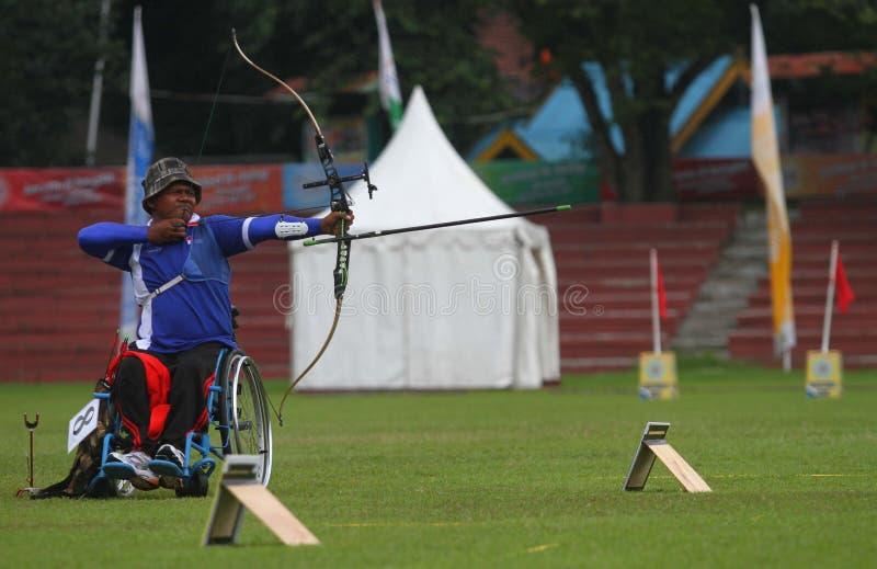 Paragames АСЕАН: archery кресло-коляскы стоковое изображение