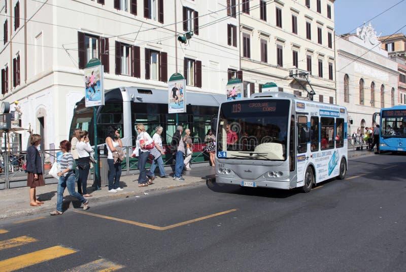 Paragem do autocarro em Roma fotografia de stock royalty free