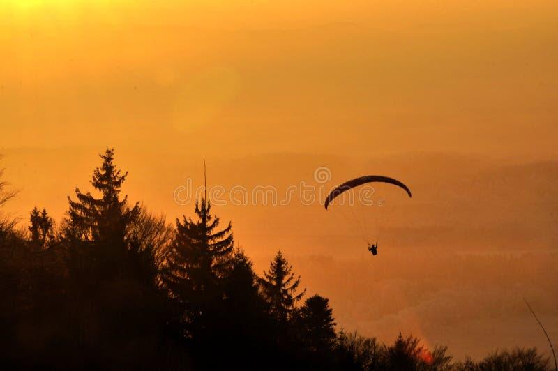 Download Paraglaiding at sunset stock photo. Image of pilot, sunset - 83707854