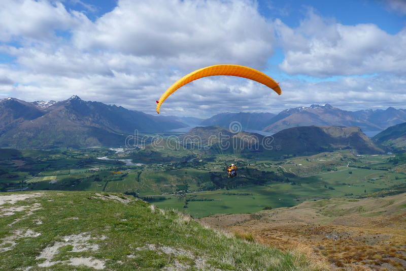 Paraglide royalty-vrije stock foto's