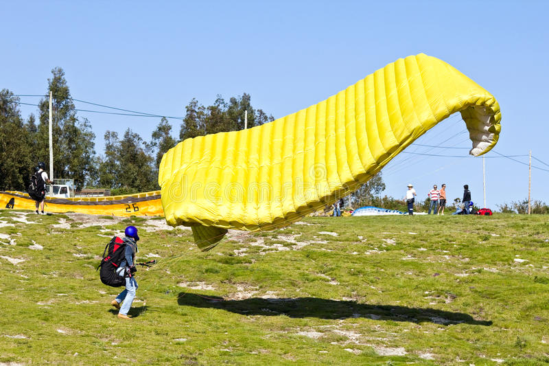 Download Paraglider editorial image. Image of color, ground, beautiful - 14581225