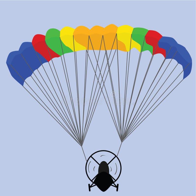 Paraglider ilustração royalty free