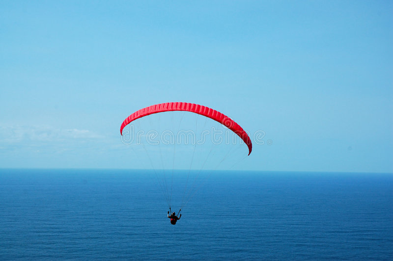 Paraglider above the sea. Photoed in the Stanwell park, 1 hour drive from Sydney city stock photos