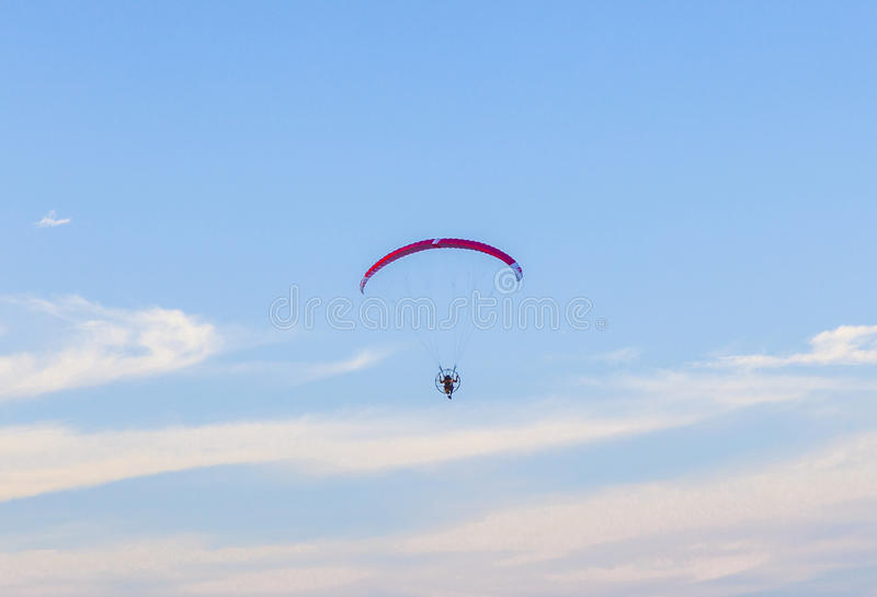 Paraglider in the air stock images