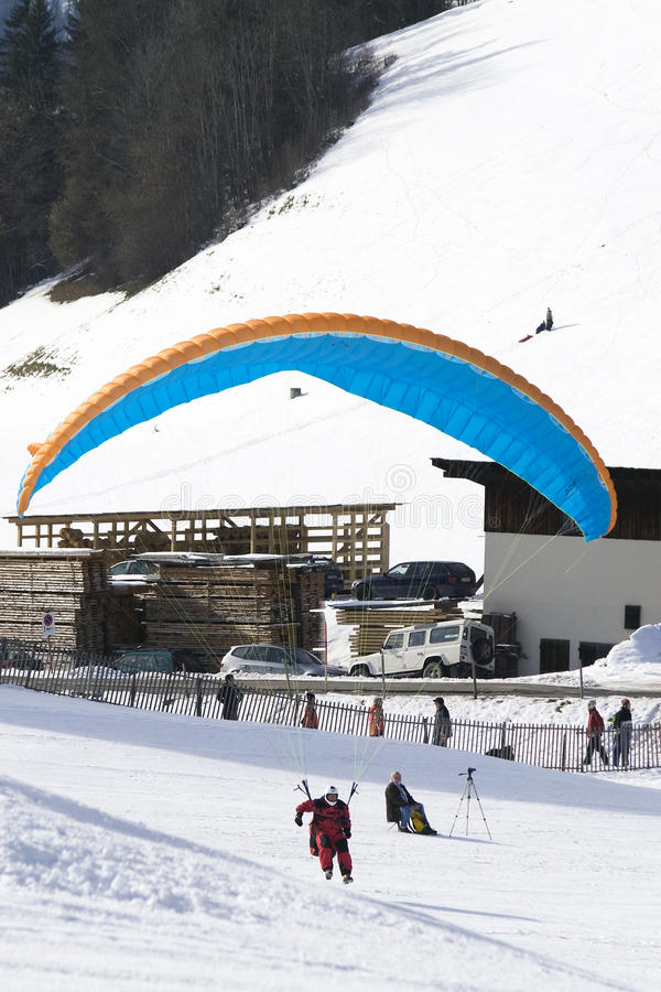 Download Paraglider At Chateau D'Oex Editorial Stock Image - Image: 12678089