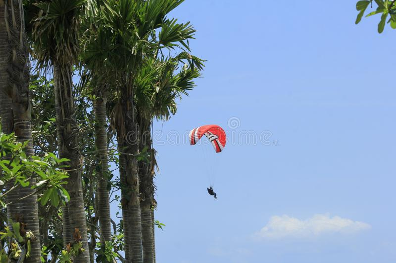 Paraglider Fly Balance stock images