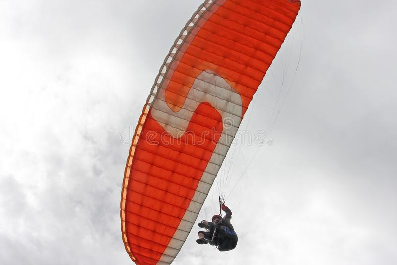 Paraglider flying royalty free stock photography
