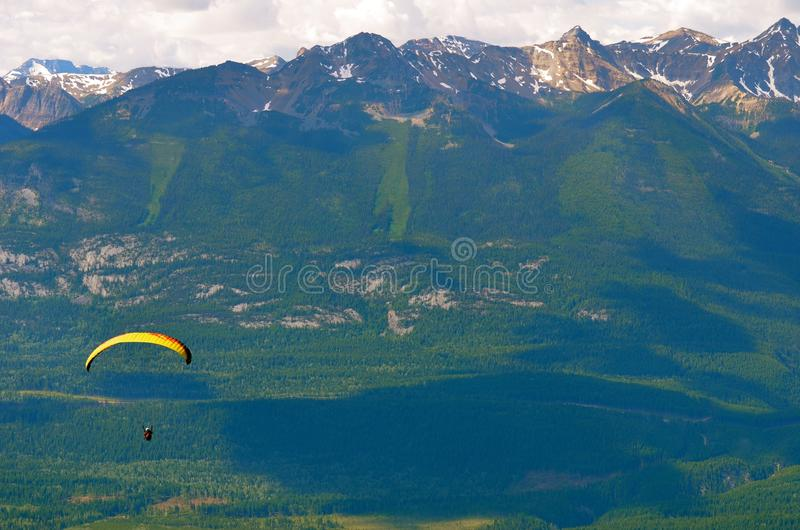 Paraglider golden british columbia royalty free stock photos