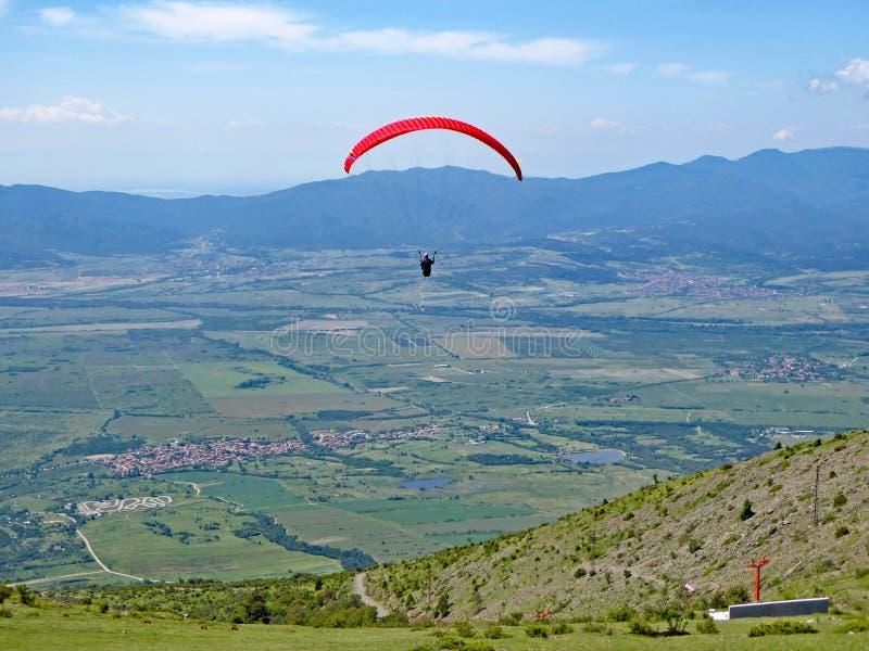 Paraglider latanie przy Sopotem zdjęcie royalty free