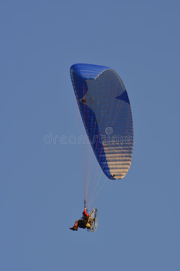 Training With A Parachute With A Motor Stock Image - Image
