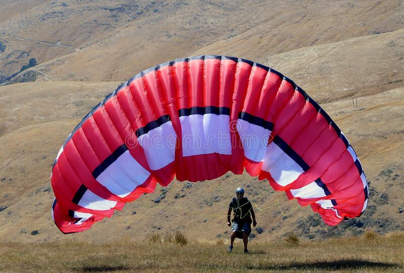 The Paraglider. royalty free stock image