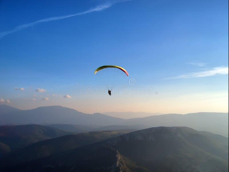 paraglider słońca obraz royalty free
