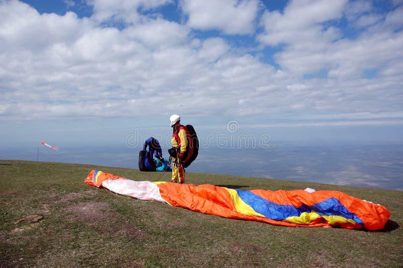 Paraglider01 stock foto's