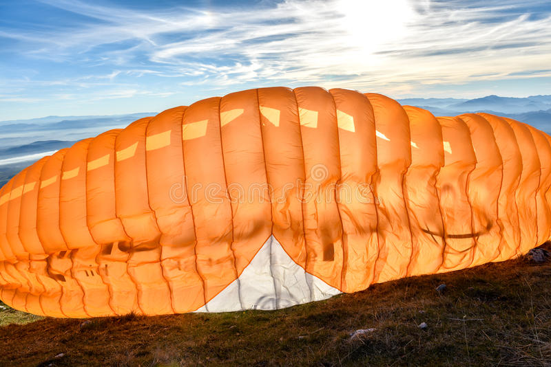 Paraglideren startar arkivfoton