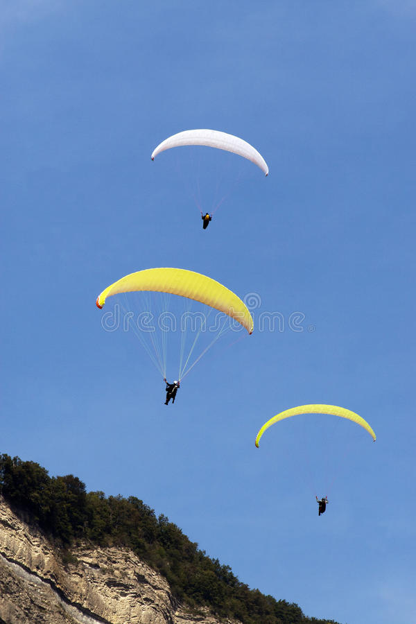 Download Paragliders stock image. Image of falling, glide, gliding - 23438763