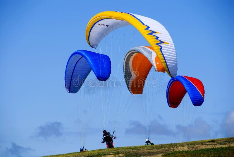 paragliders obraz stock
