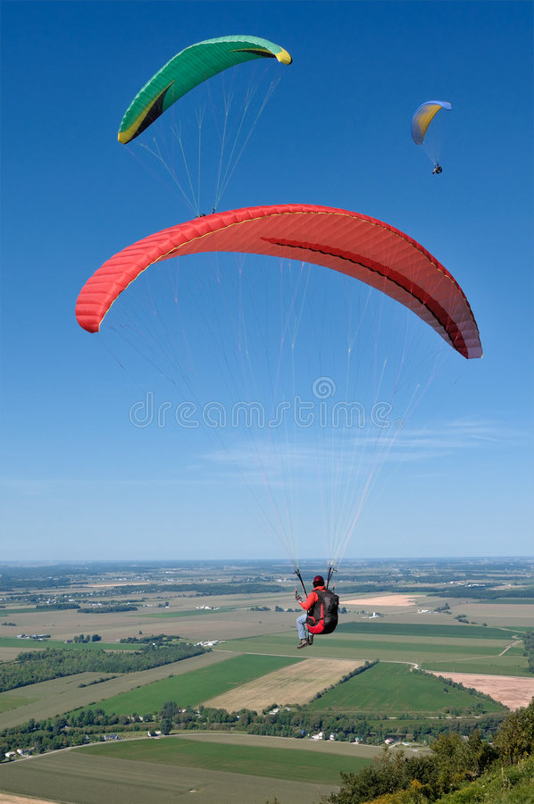 paragliders obrazy royalty free