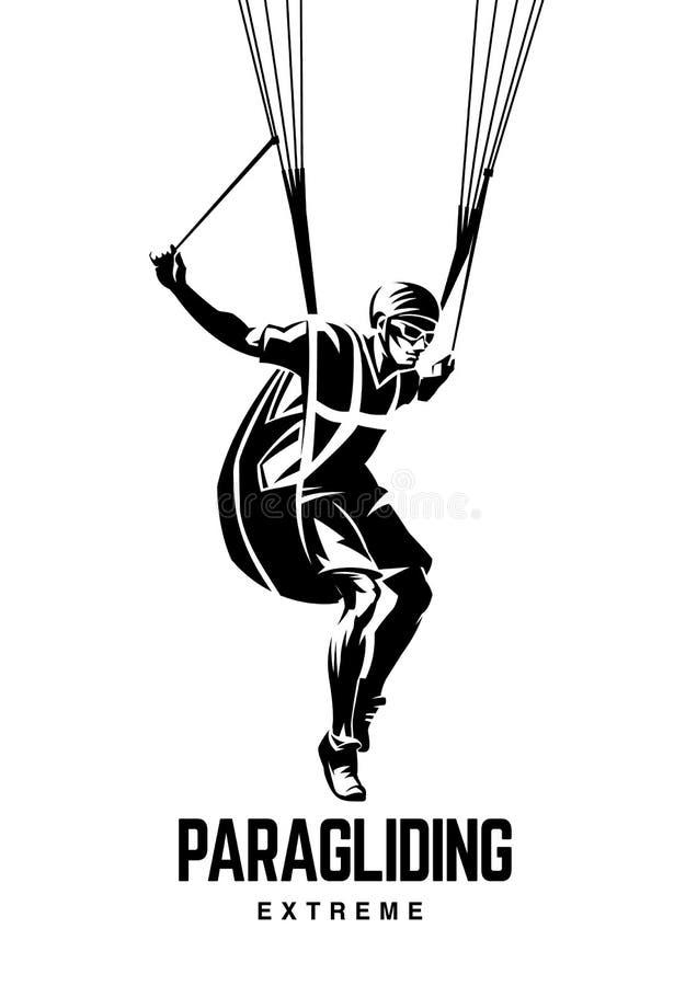 paragliding Эмблема спорта иллюстрация вектора