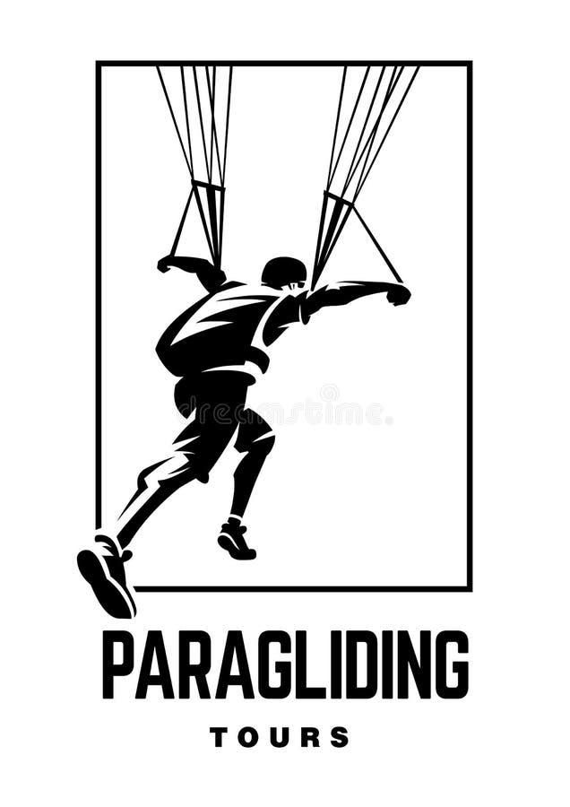 paragliding Эмблема спорта бесплатная иллюстрация