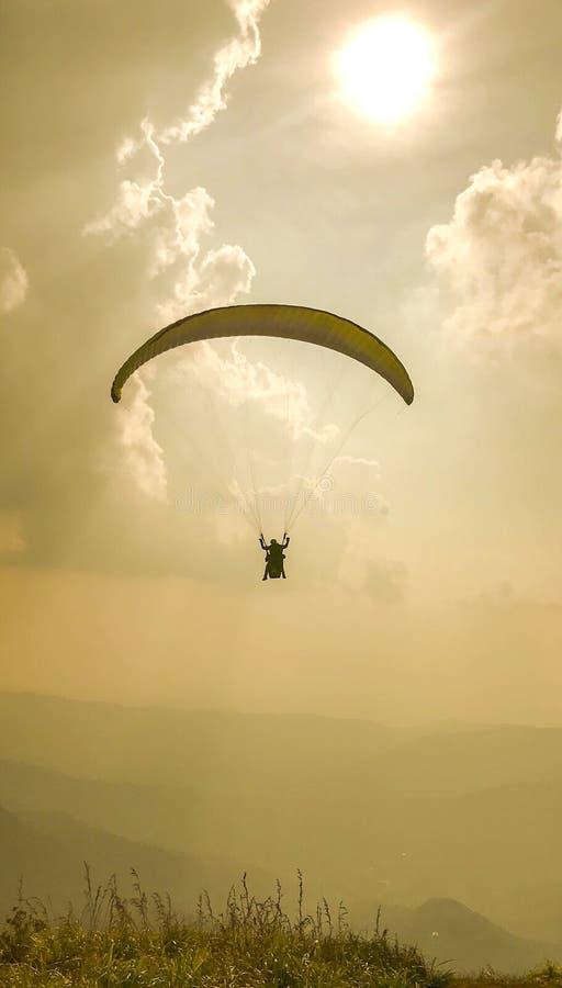 paragliding stockfoto