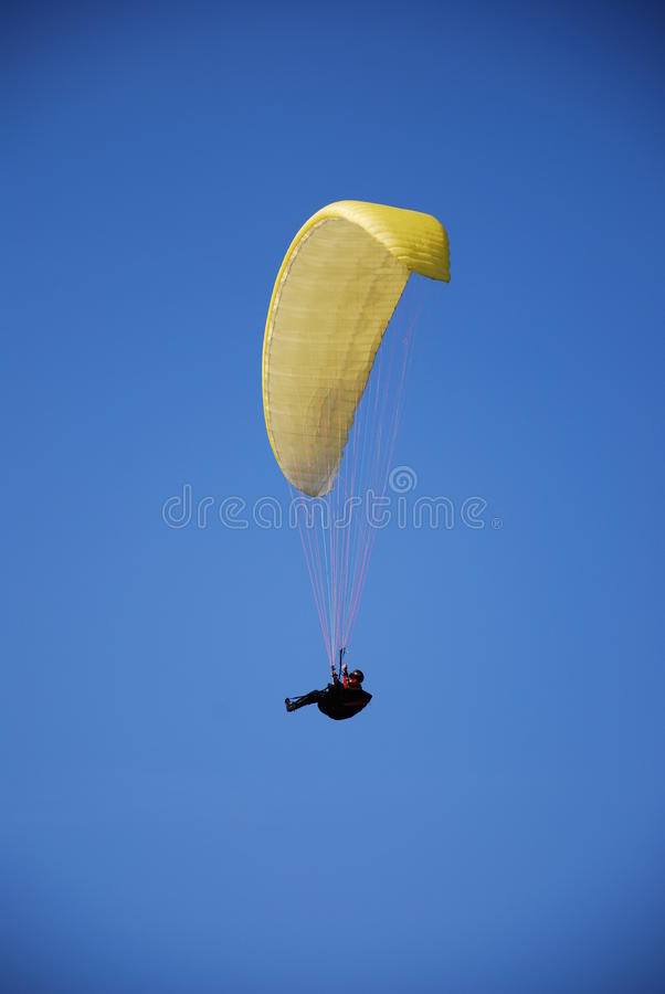 Paragliding fotografia de stock