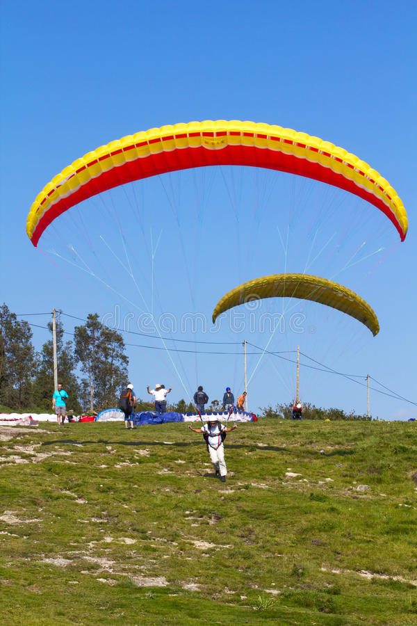 Download Paragliding editorial image. Image of hanging, emotion - 14576120