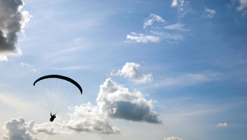 paragliding стоковые изображения