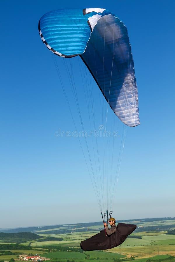 paragliding stockbild