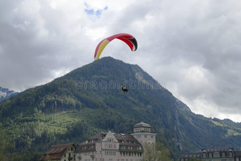 paragliding fotografia stock libera da diritti