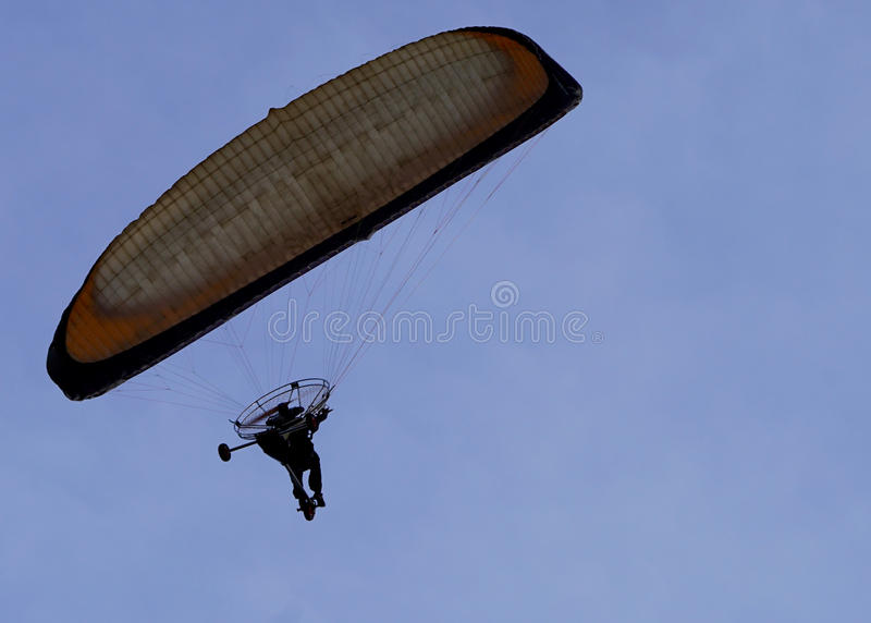 Paragliding bike royalty free stock photo