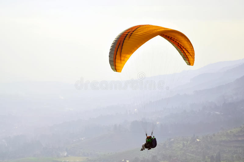 Paragliding Indonesia stock photography