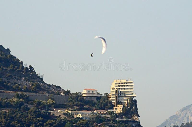 Paragliding, Mónaco, Tom Wurl imágenes de archivo libres de regalías