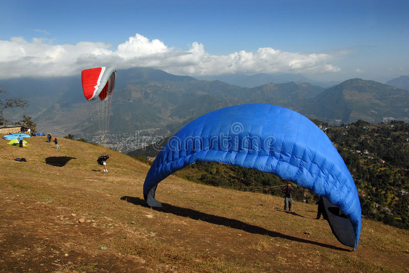 Download Paragliding In Nepal Editorial Photo - Image: 22643001