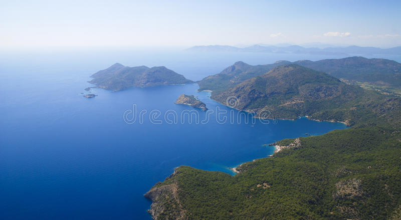 paragliding oludeniz стоковые фотографии rf