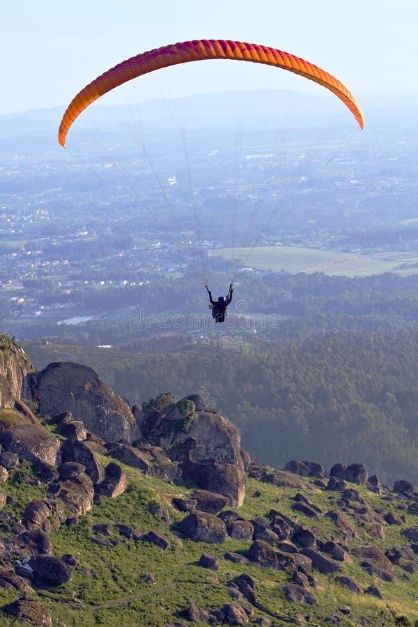 Paragliding - seater dois fotografia de stock royalty free