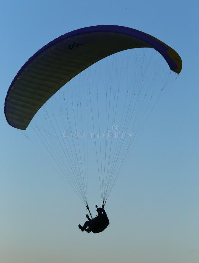 Paragliding sporting pilot stock image