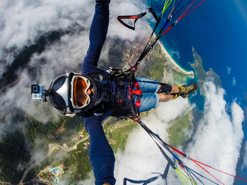 paragliding Turquía, Oludeniz imagen de archivo