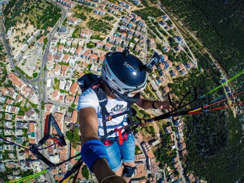 paragliding Turquia, Kas fotografia de stock