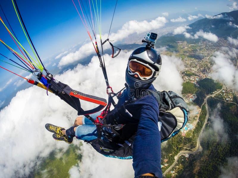 paragliding Turquia, Oludeniz fotografia de stock