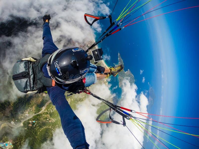 paragliding Turquia, Oludeniz foto de stock