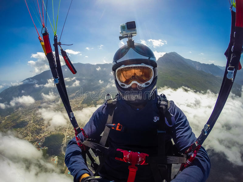 paragliding Turquia, Oludeniz foto de stock royalty free