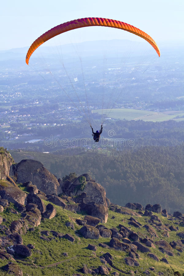 Paragliding - two seater royalty free stock photography