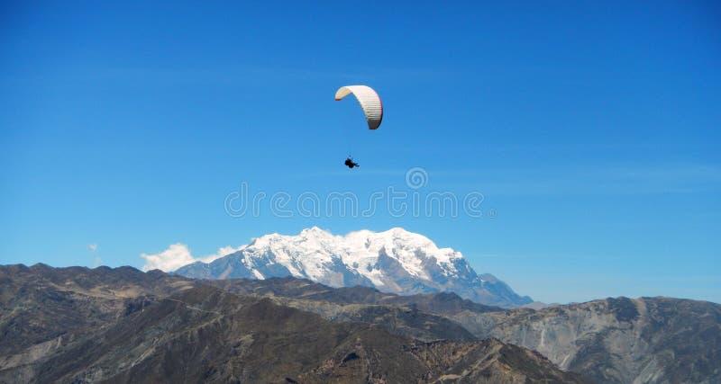 Paraglidingaffärsföretag arkivbilder